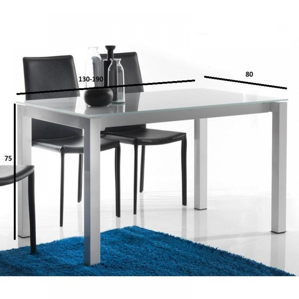 Table de repas design au meilleur prix table repas extensible jumper blanche - Table extensible verre blanc ...