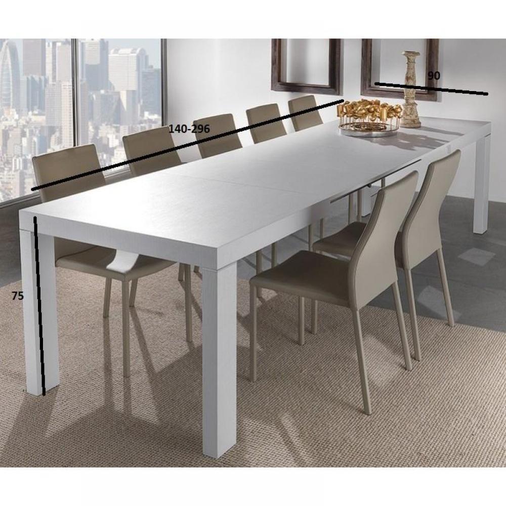 table de repas design au meilleur prix table repas extensible wind design blanche 167 cm inside75. Black Bedroom Furniture Sets. Home Design Ideas