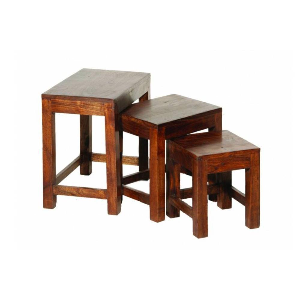 Table Basse Gigogne Adam En Bois Acacia Style Colonial