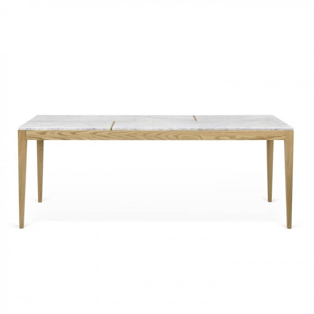 table de repas mathilde plateau marbre blanc structure en chne massif partir de 2 995 2 offres disponibles - Inside75 Table Basse
