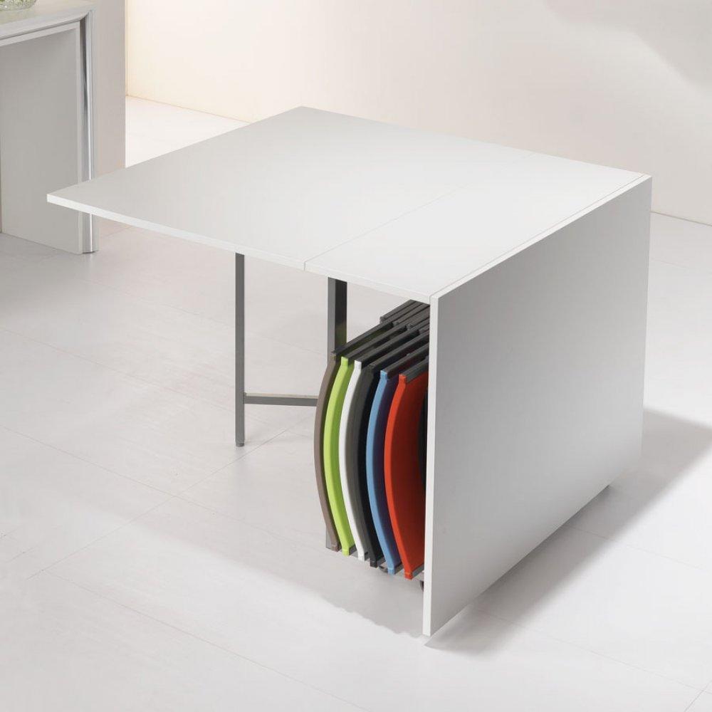 table de repas design au meilleur prix table pliante archimede blanche mate inside75. Black Bedroom Furniture Sets. Home Design Ideas