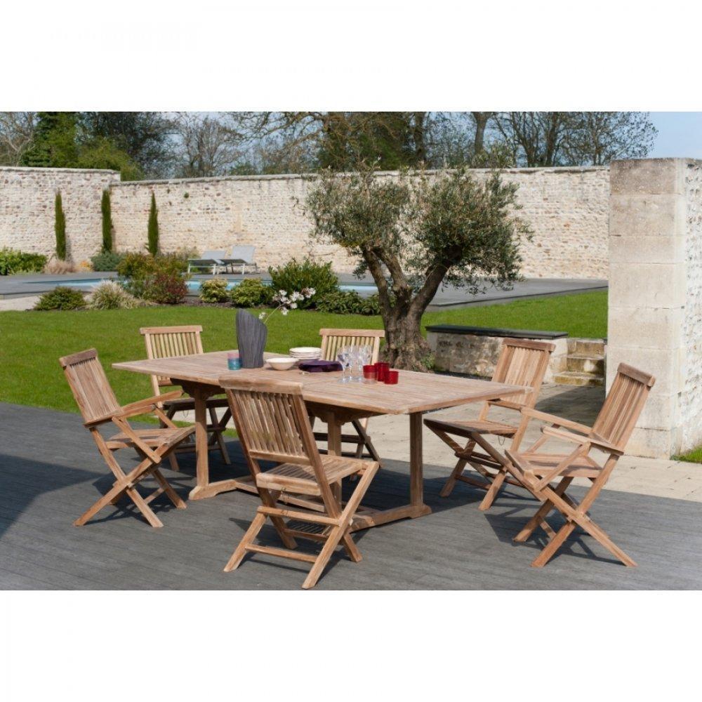 Table de jardin pour terrasse ou balcon au meilleur prix table repas extensible de jardin - Table jardin teck massif fort de france ...