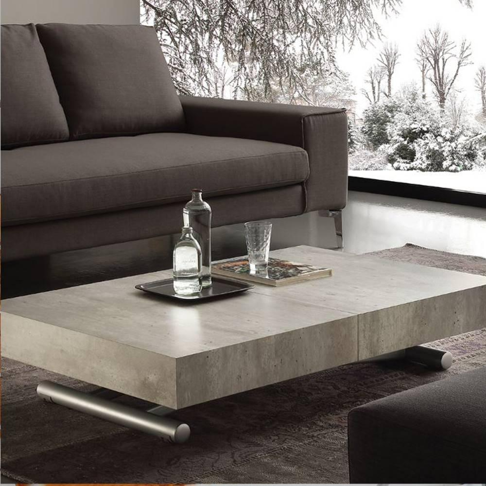 table basse beton fabulous table basse table basse verre. Black Bedroom Furniture Sets. Home Design Ideas