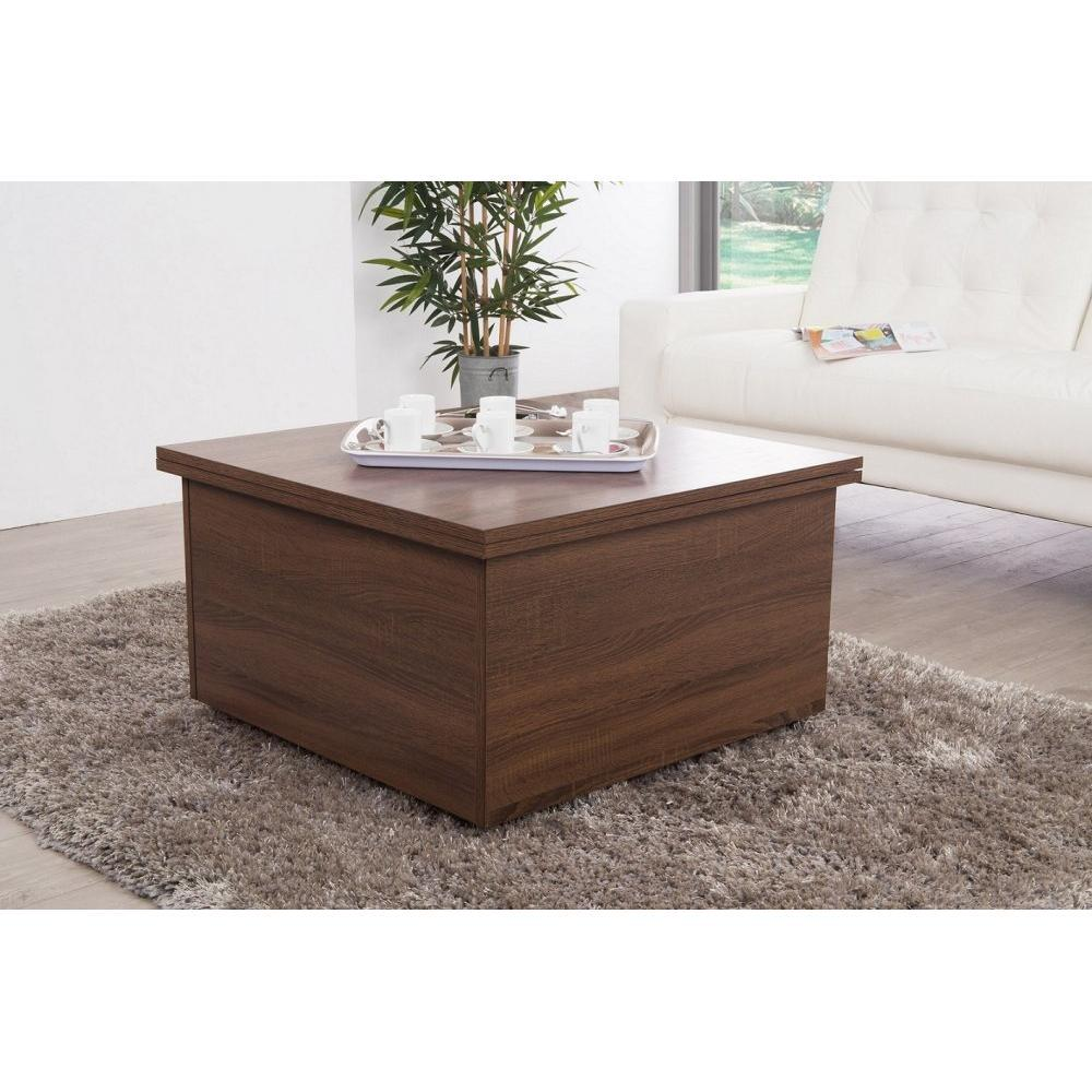 Table basse carr e ronde ou rectangulaire au meilleur - Table basse wenge but ...