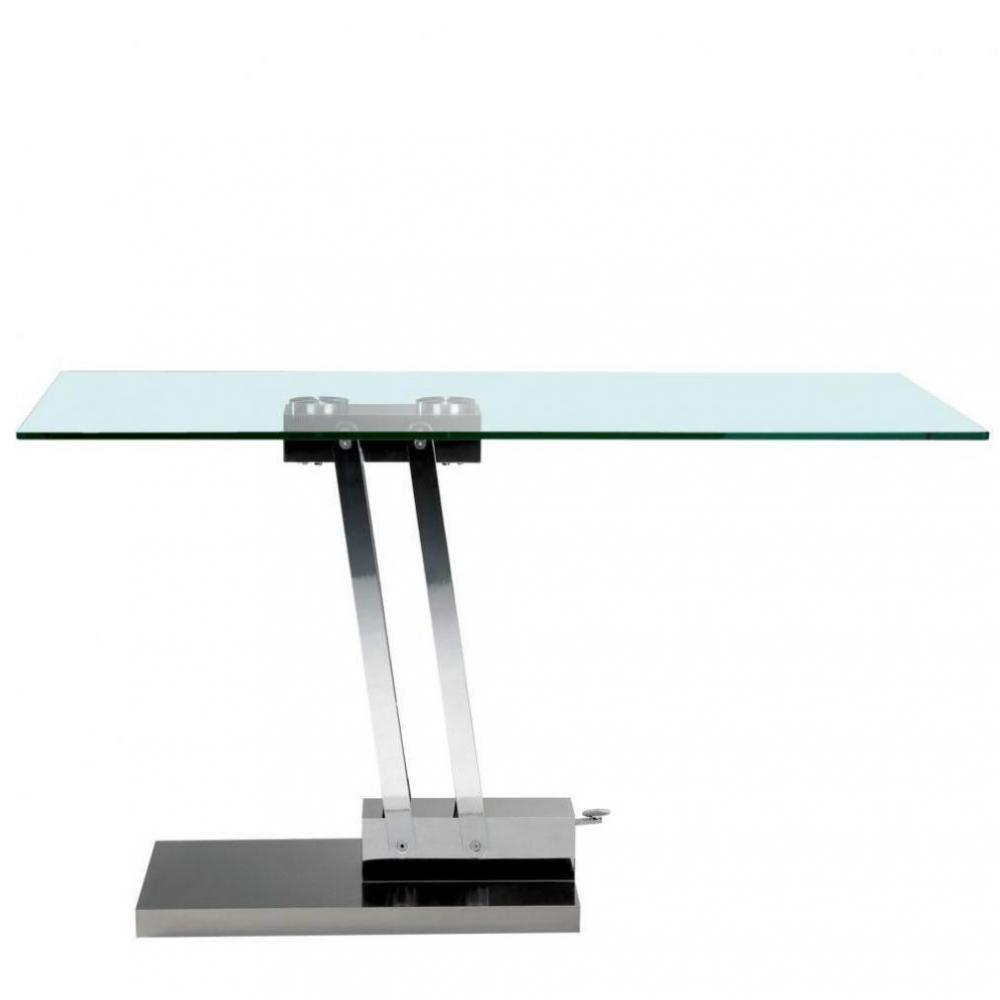 table relevable design ou classique au meilleur prix table basse relevable bravo en verre. Black Bedroom Furniture Sets. Home Design Ideas