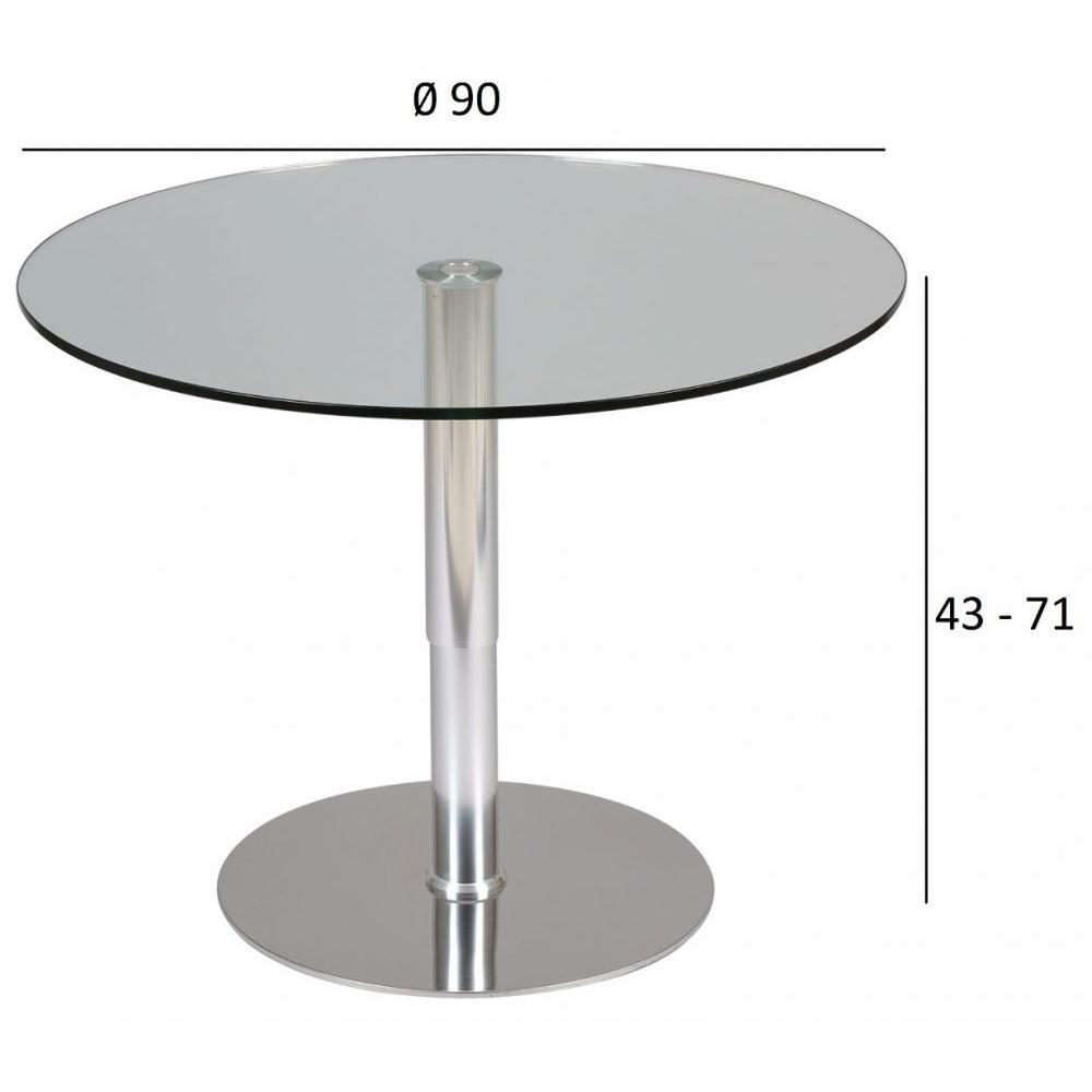 Tables design au meilleur prix, Table relevable ronde SCION en verre ...
