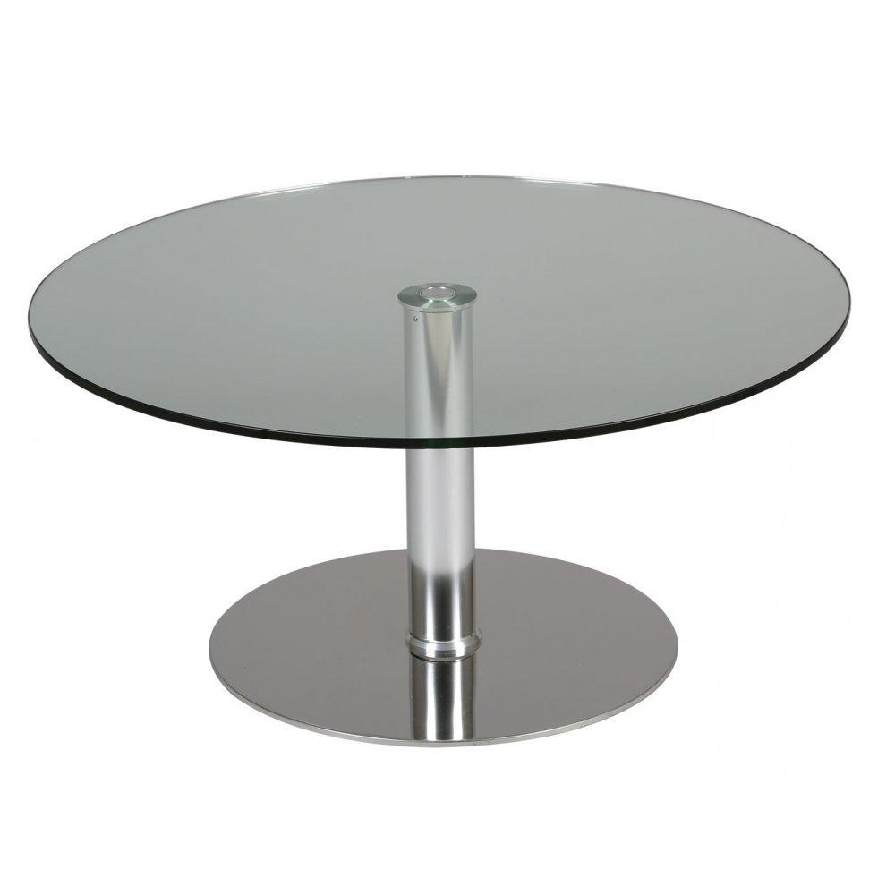 Tables design au meilleur prix table relevable ronde scion en verre transpar - Table relevable en verre ...