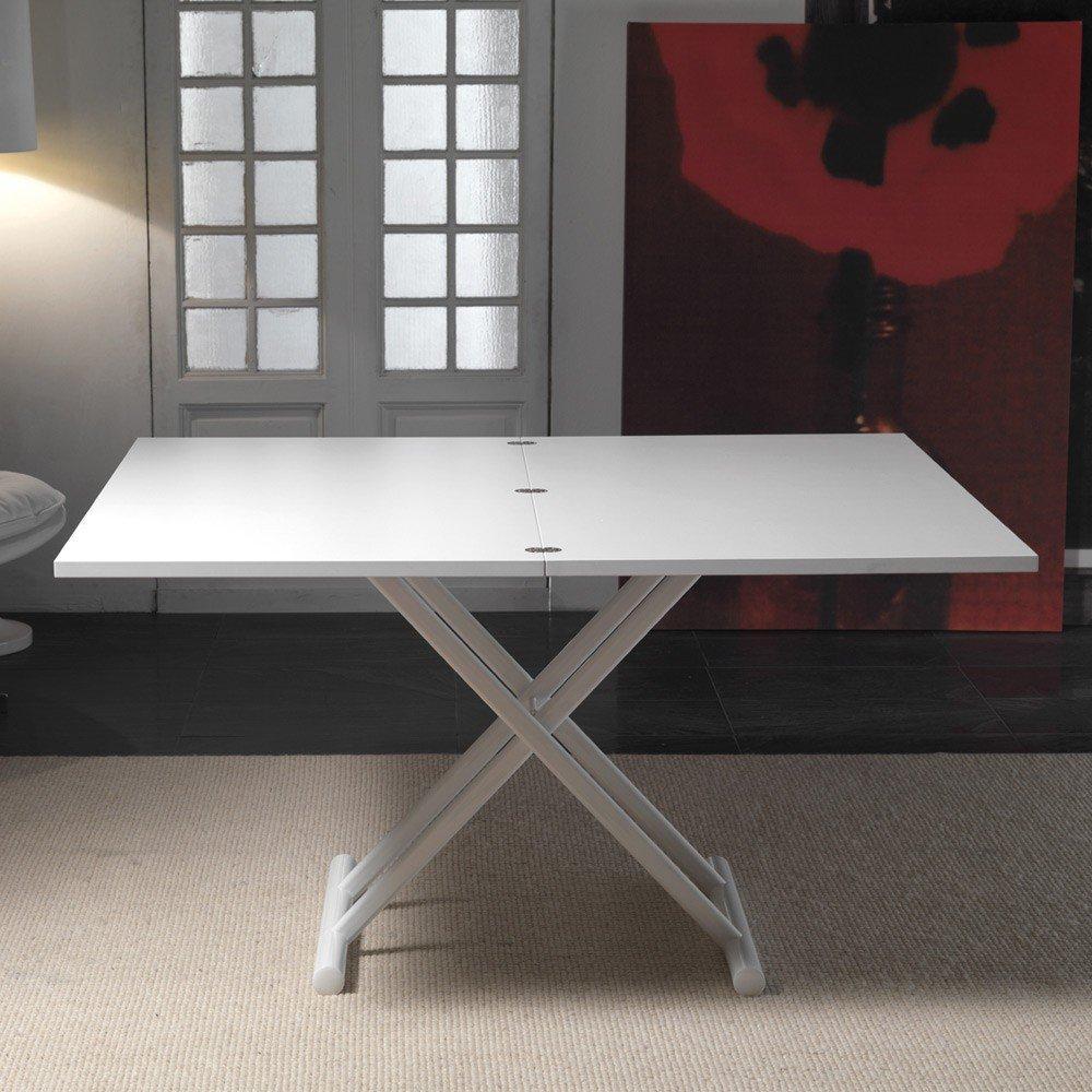 Table relevable design ou classique au meilleur prix table basse relevable e - Table basse relevable blanc ...
