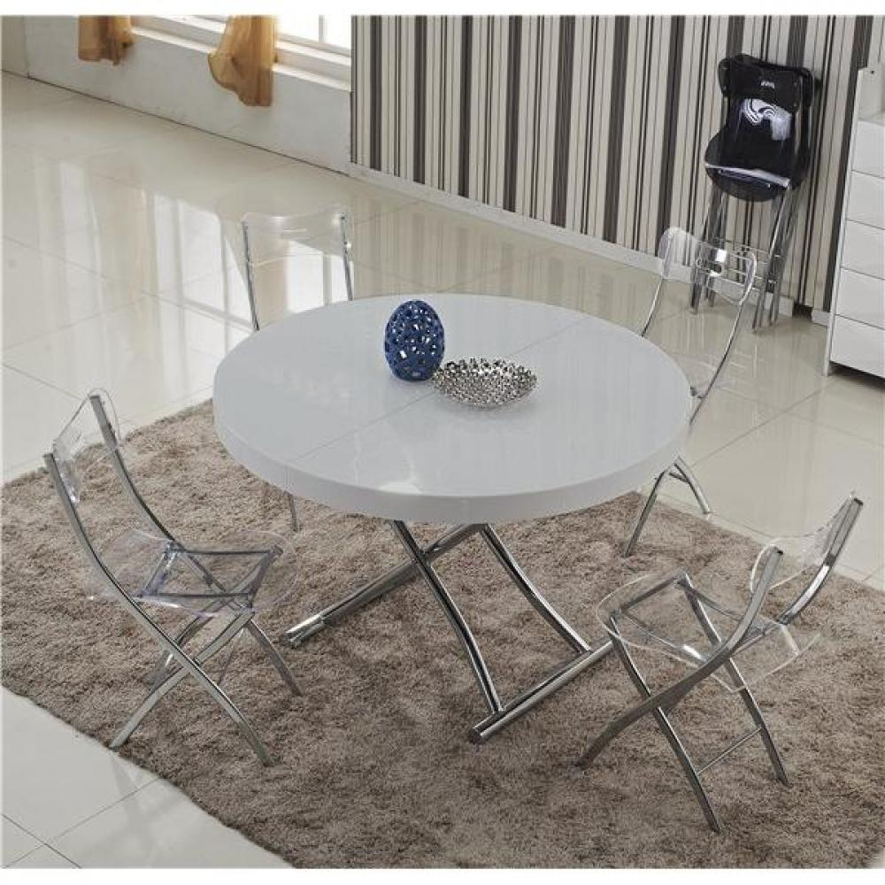 Table relevable design ou classique au meilleur prix table basse ronde relevable et extensible - Table basse relevable grise ...