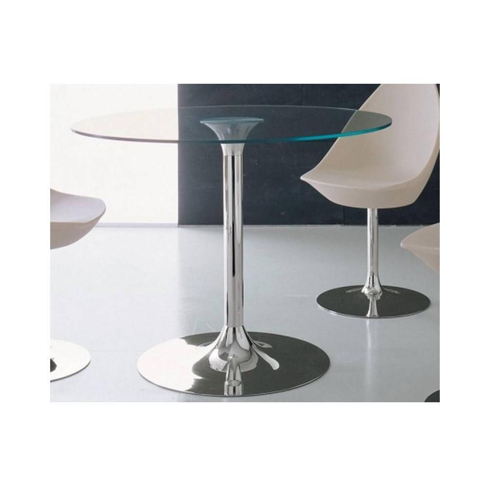 Tables repas tables et chaises table repas armony en verre et acier chrom - Table en verre et chaises ...