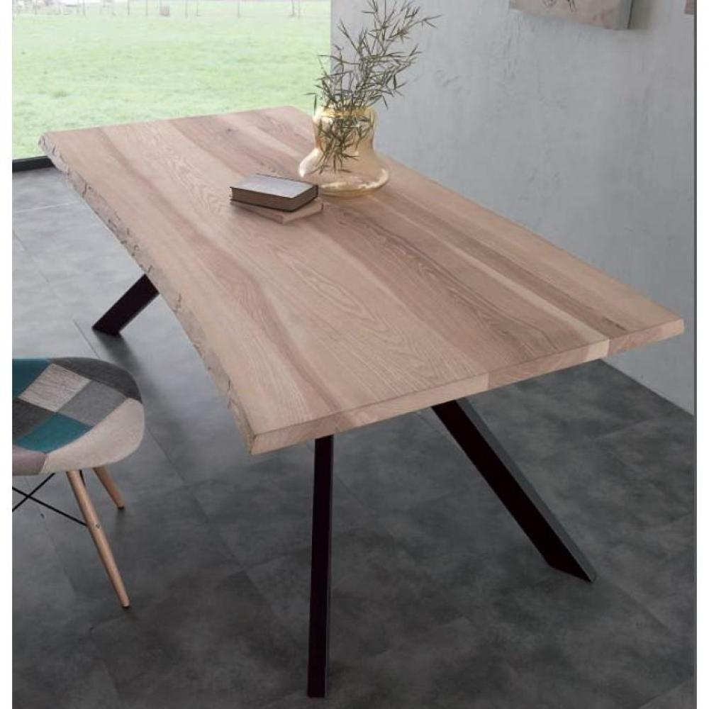 Table de repas design au meilleur prix, Table repas BIO METAL en bois massif