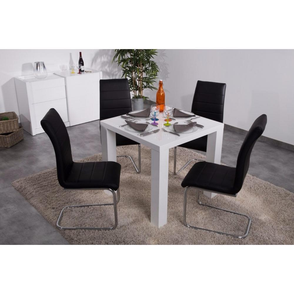 table de repas design au meilleur prix table repas carr e ashlow blanc inside75. Black Bedroom Furniture Sets. Home Design Ideas