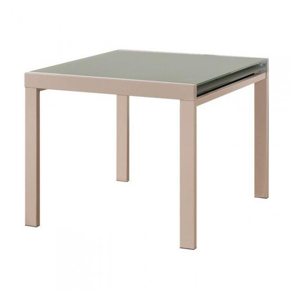 table de repas design au meilleur prix universe table repas extensible carr e taupe design. Black Bedroom Furniture Sets. Home Design Ideas