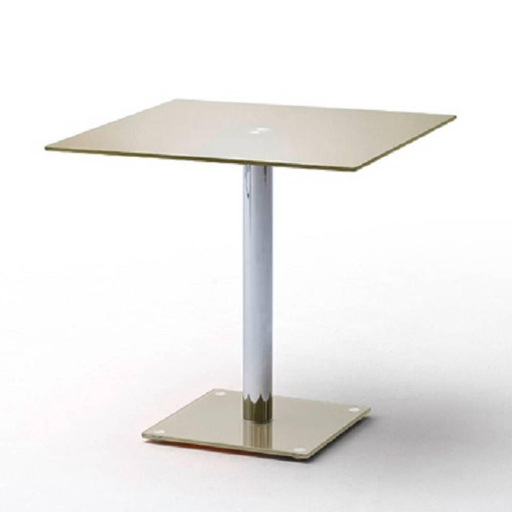 table de repas design au meilleur prix table repas carr e design fani en verre taupe inside75. Black Bedroom Furniture Sets. Home Design Ideas