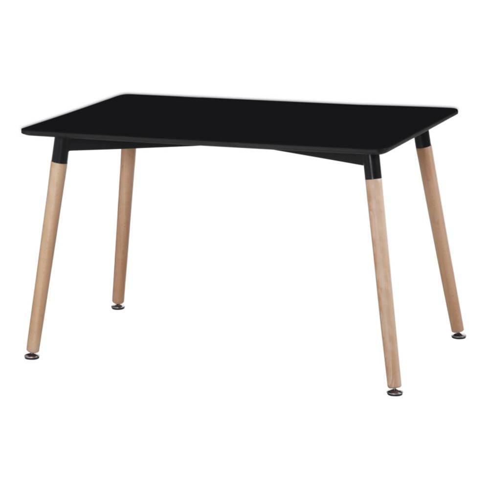 tables design au meilleur prix table repas style scandinave norway 120 x 80 cm noir mat inside75. Black Bedroom Furniture Sets. Home Design Ideas