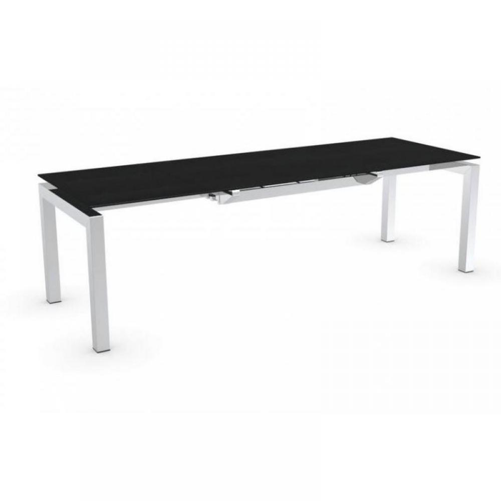 Tables design au meilleur prix table repas extensible for Table verre noir extensible
