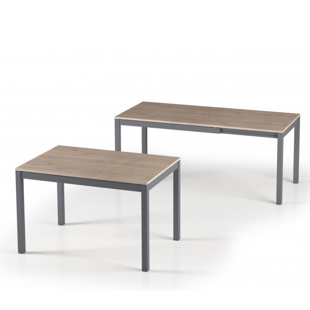 Table de repas extensible ALUNGO 120 x 80 cm chêne naturel