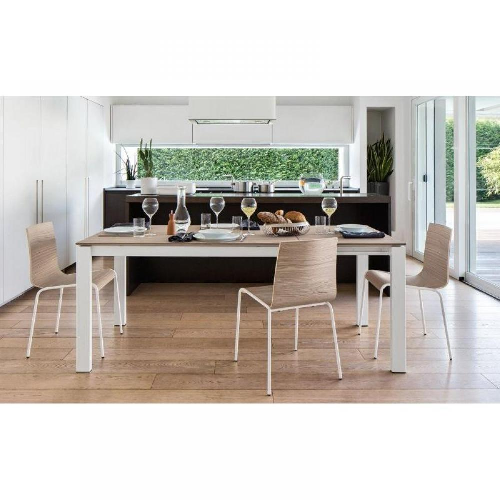 Tables design au meilleur prix table repas extensible for Table extensible metal bois