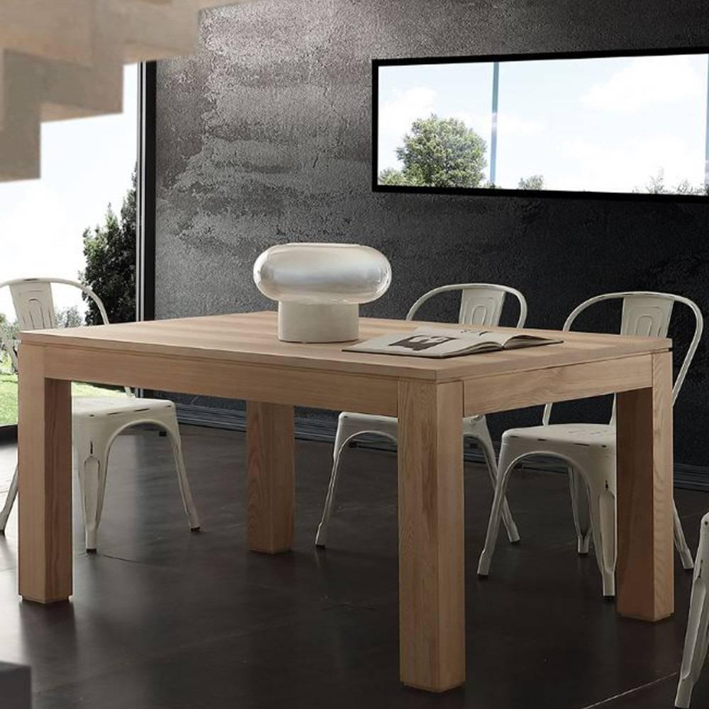 table repas extensible contemporaneo en bois massif. Black Bedroom Furniture Sets. Home Design Ideas