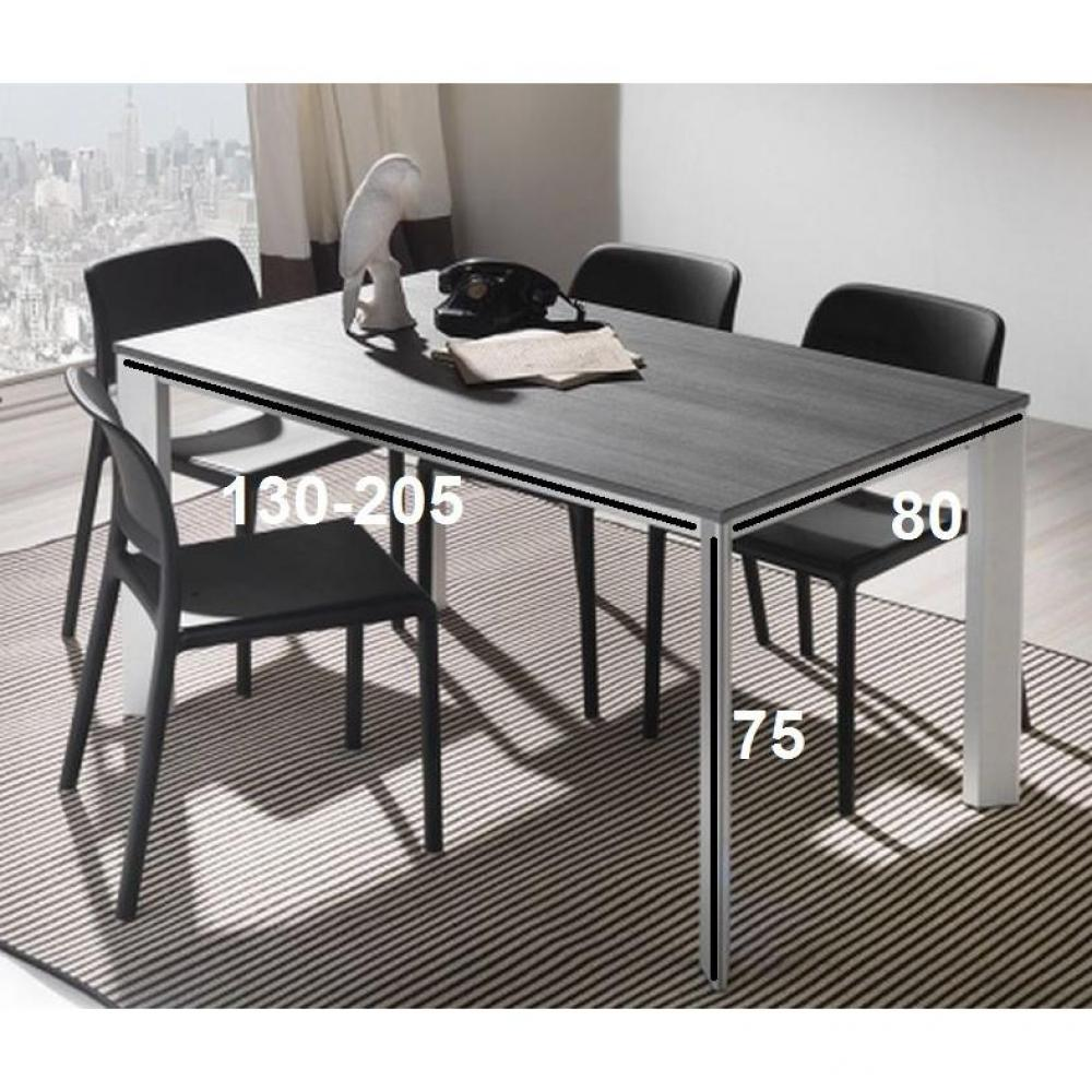 table de repas design au meilleur prix table repas extensible tecno 130 x 80 cm en polym re. Black Bedroom Furniture Sets. Home Design Ideas