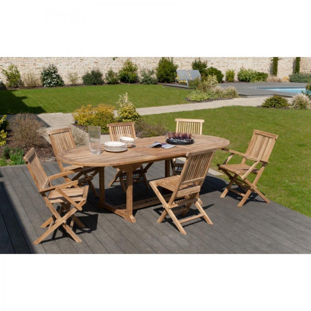 Table de jardin ovale amazing nouveau table de jardin - Table jardin teck massif fort de france ...