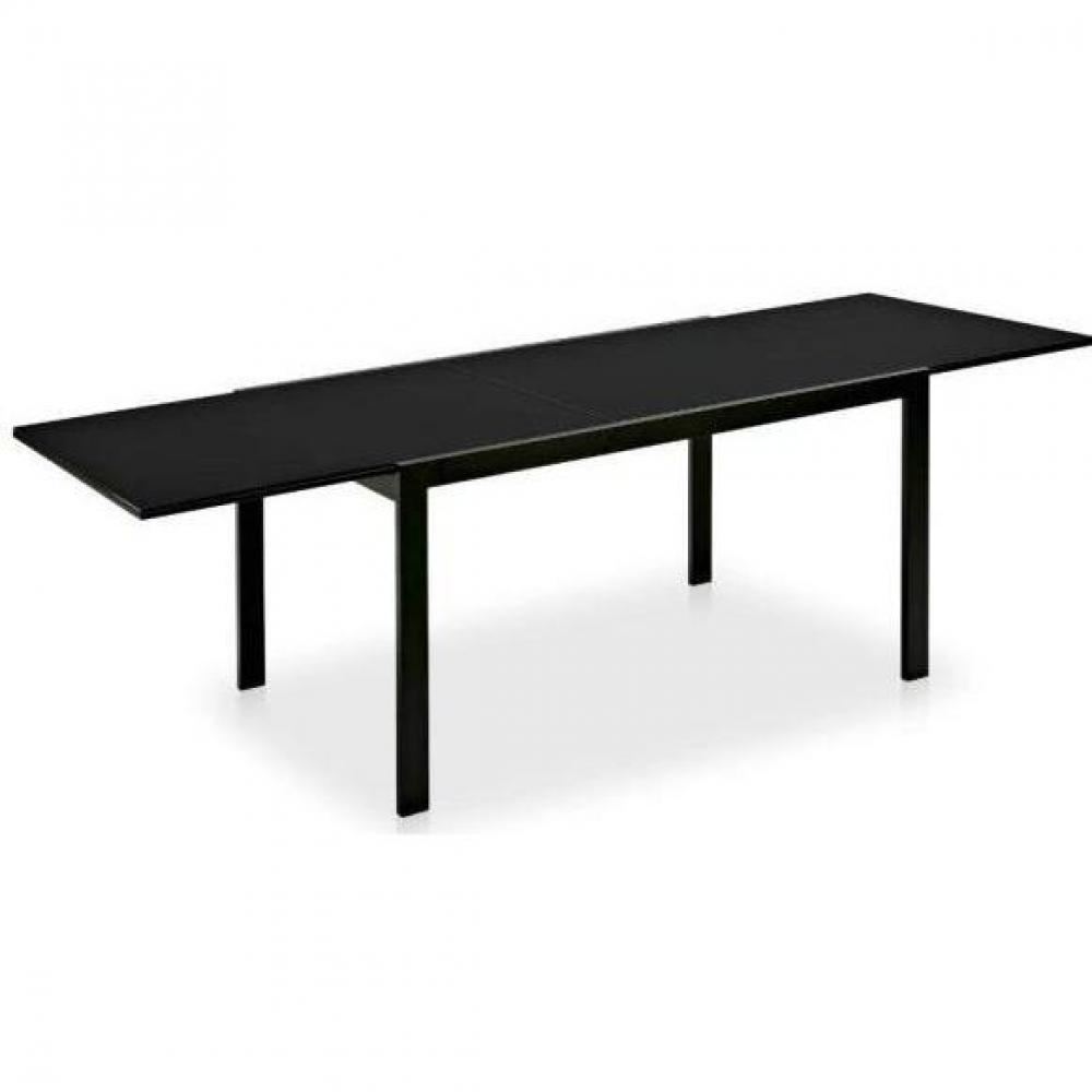 tables design au meilleur prix table repas extensible key 130x89 plateau verre noir inside75. Black Bedroom Furniture Sets. Home Design Ideas