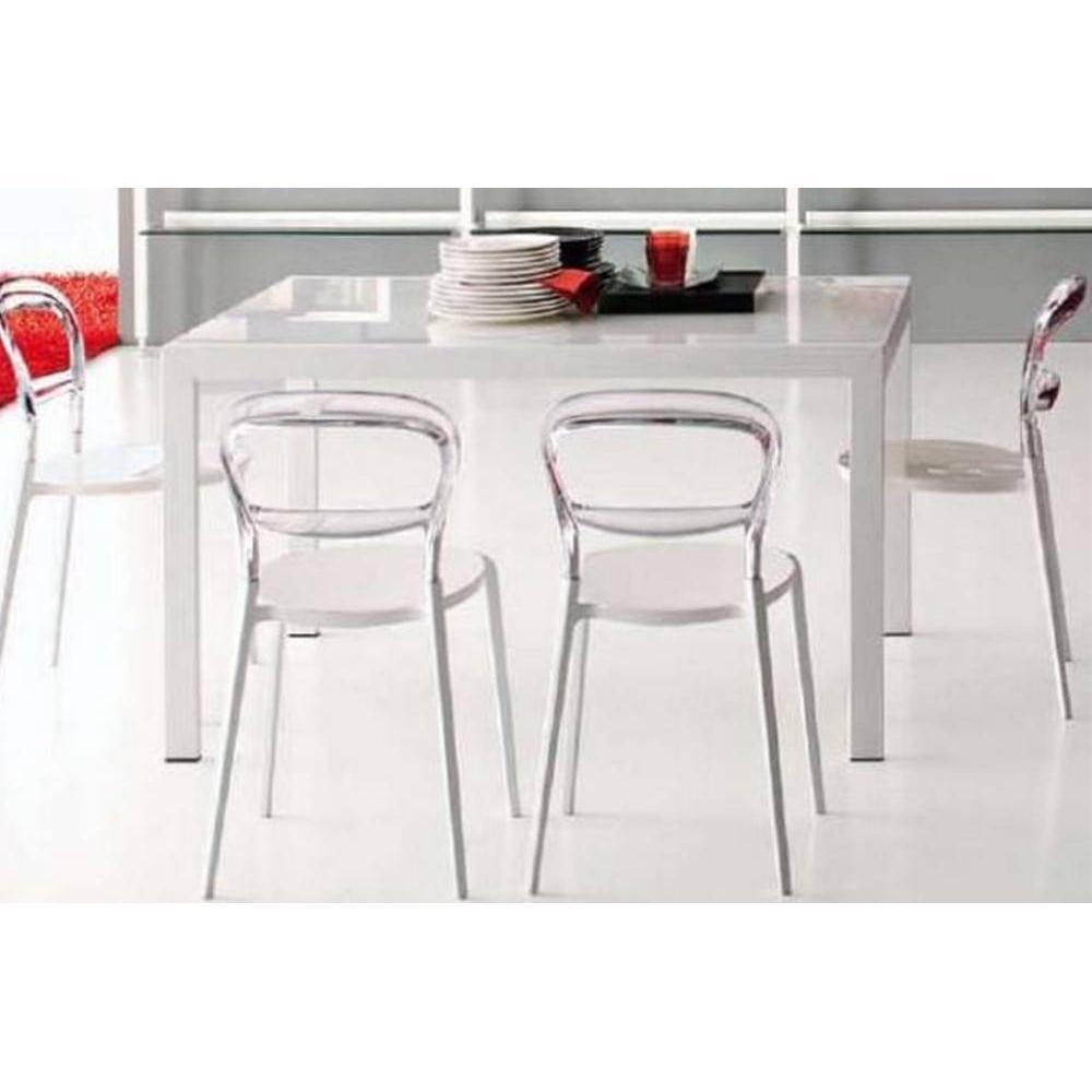 Tables tables et chaises calligaris table repas extensible key 130x89 en ve - Table extensible verre blanc ...