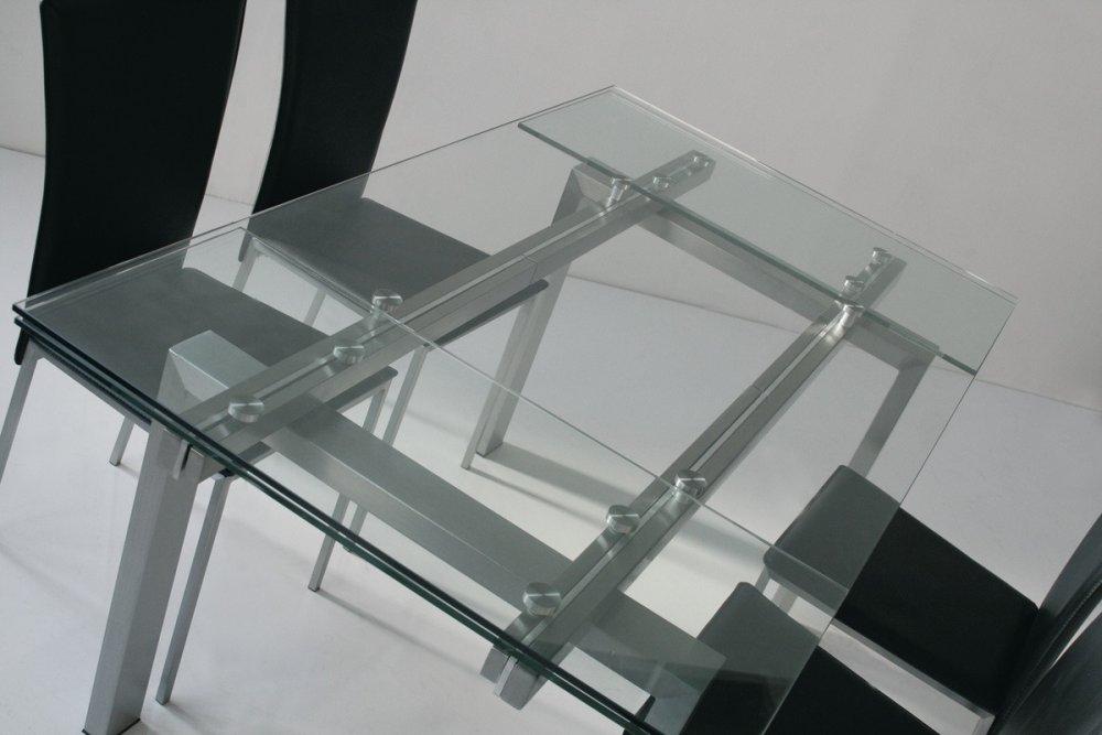Table extensible et de r ception au meilleur prix inside75 - Table verre extensible ...