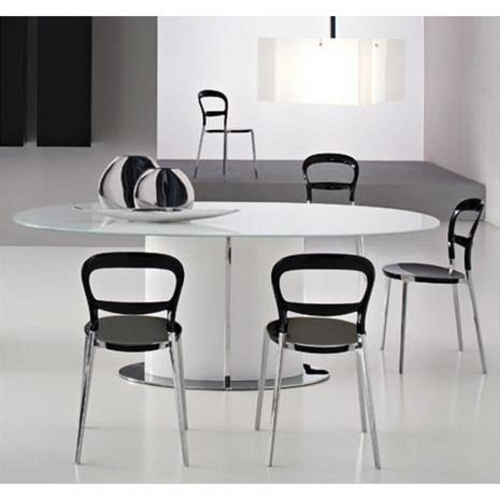 Table de repas design au meilleur prix calligaris table for Table extensible verre blanc