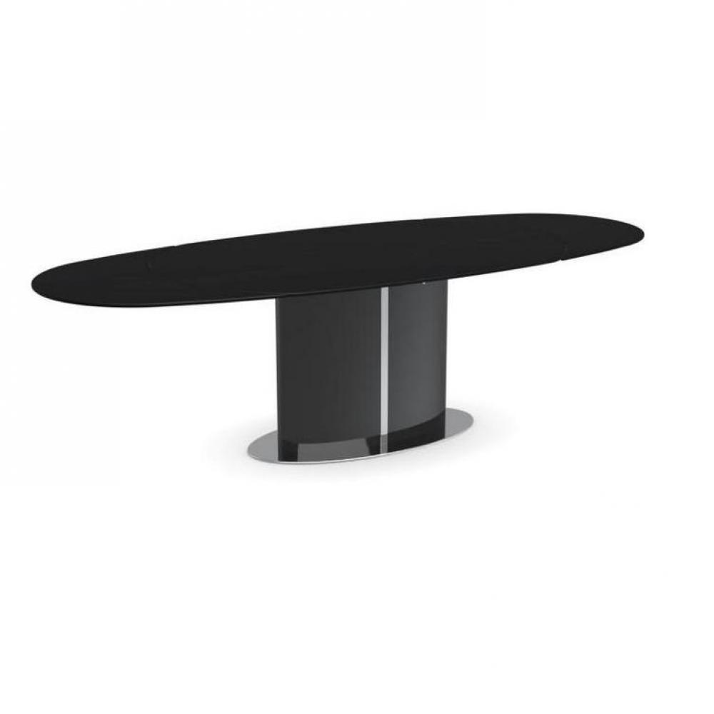 Table ovale extensible design d coration de maison - Table ovale verre extensible ...
