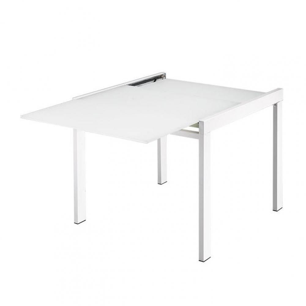 Tables relevables meubles et rangements galaxy table for Table verre blanc extensible