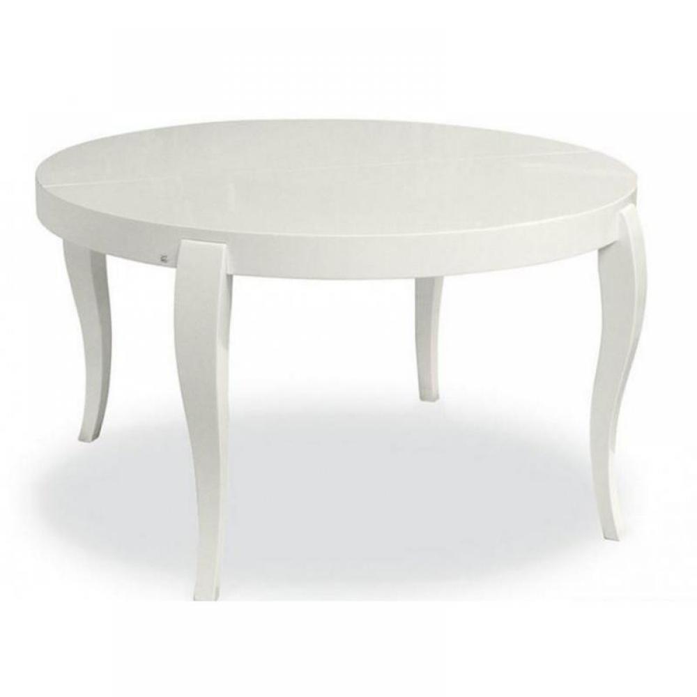 Table de repas design au meilleur prix table repas - Table ronde extensible blanche ...