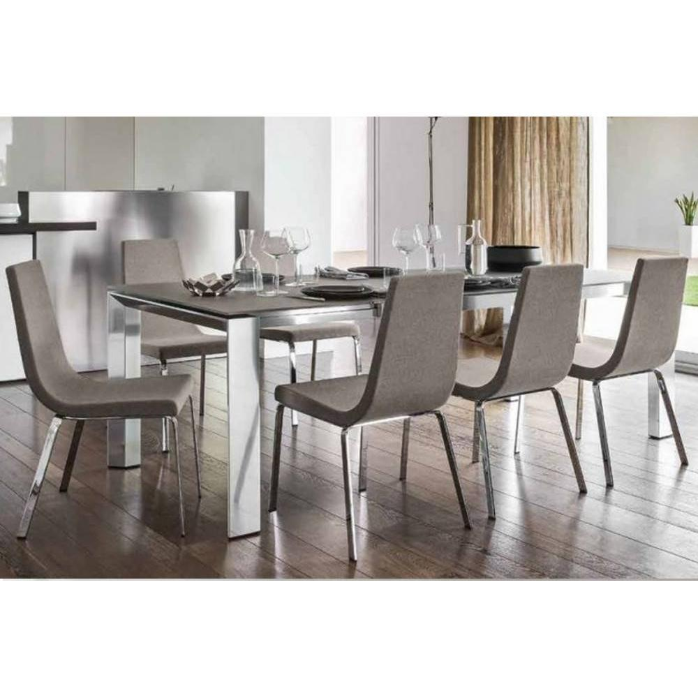 table de repas design au meilleur prix table repas extensible royal 180 240 100 cm inside75. Black Bedroom Furniture Sets. Home Design Ideas
