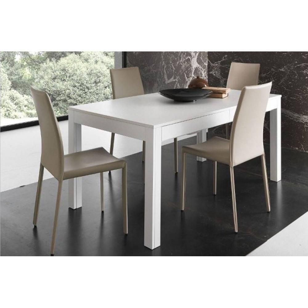 table de repas design au meilleur prix table repas extensible ermes blanche inside75. Black Bedroom Furniture Sets. Home Design Ideas