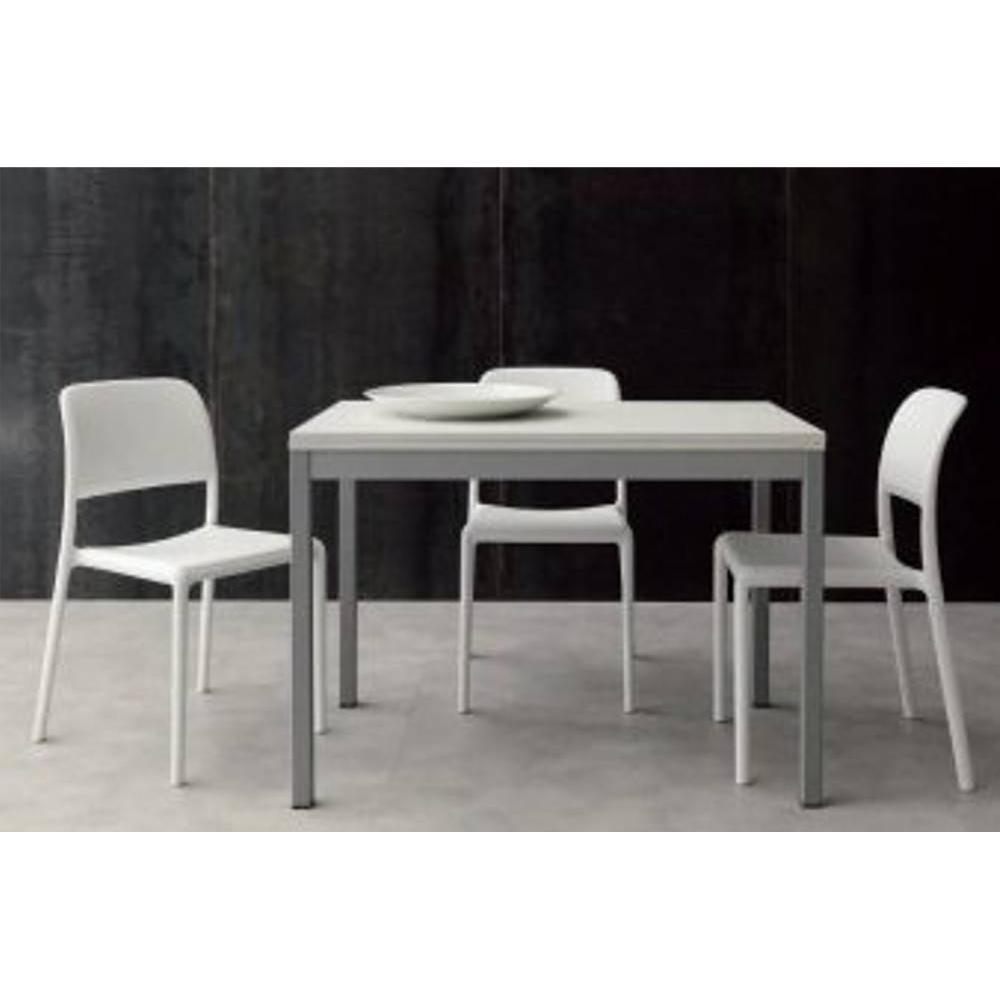 tables design au meilleur prix table repas extensible split 70 140 110 cm blanche inside75. Black Bedroom Furniture Sets. Home Design Ideas