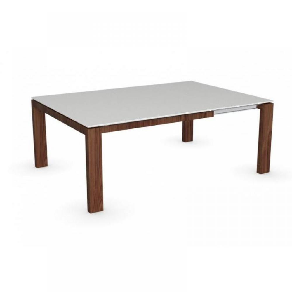 Table bois verre extensible for Table extensible verre et bois