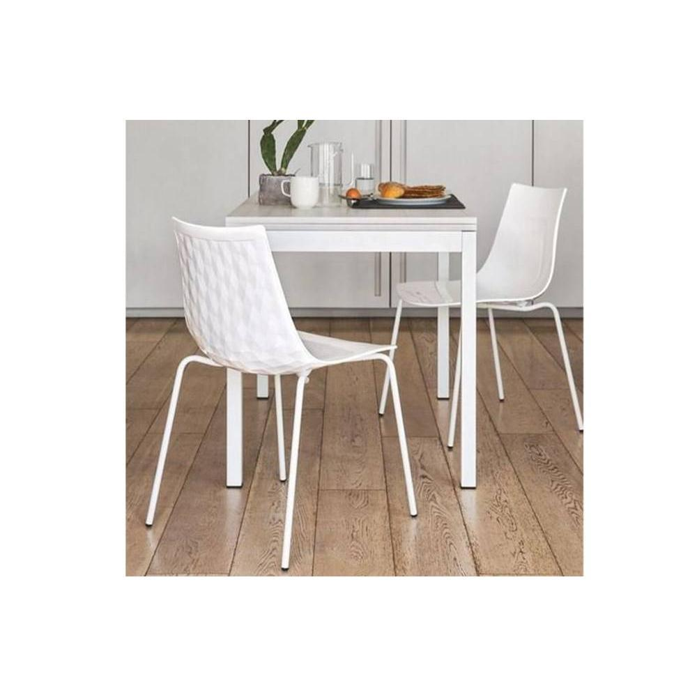 table de repas design au meilleur prix table repas extensible snap book 110x70 en ch ne blanc. Black Bedroom Furniture Sets. Home Design Ideas
