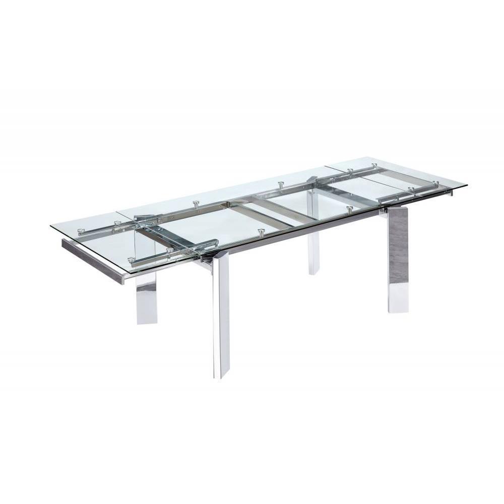 Table de repas design au meilleur prix inside75 for Table verre extensible