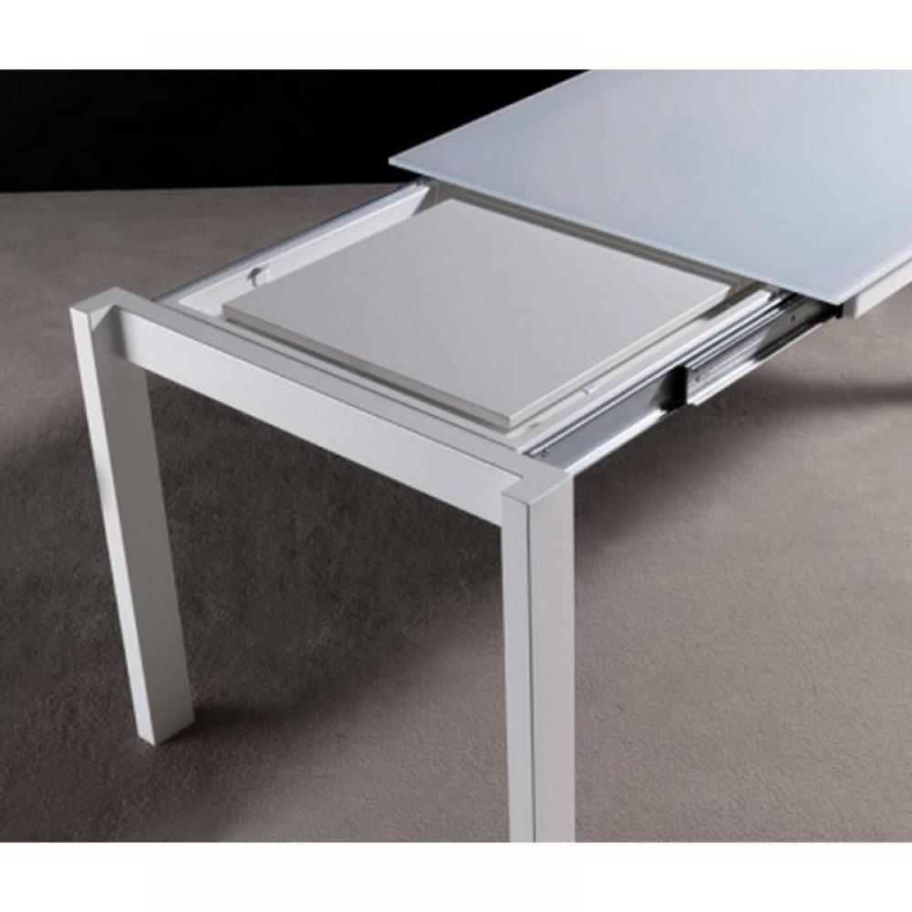 table de repas design au meilleur prix table repas extensible twelve 140 x 85 blanche inside75. Black Bedroom Furniture Sets. Home Design Ideas
