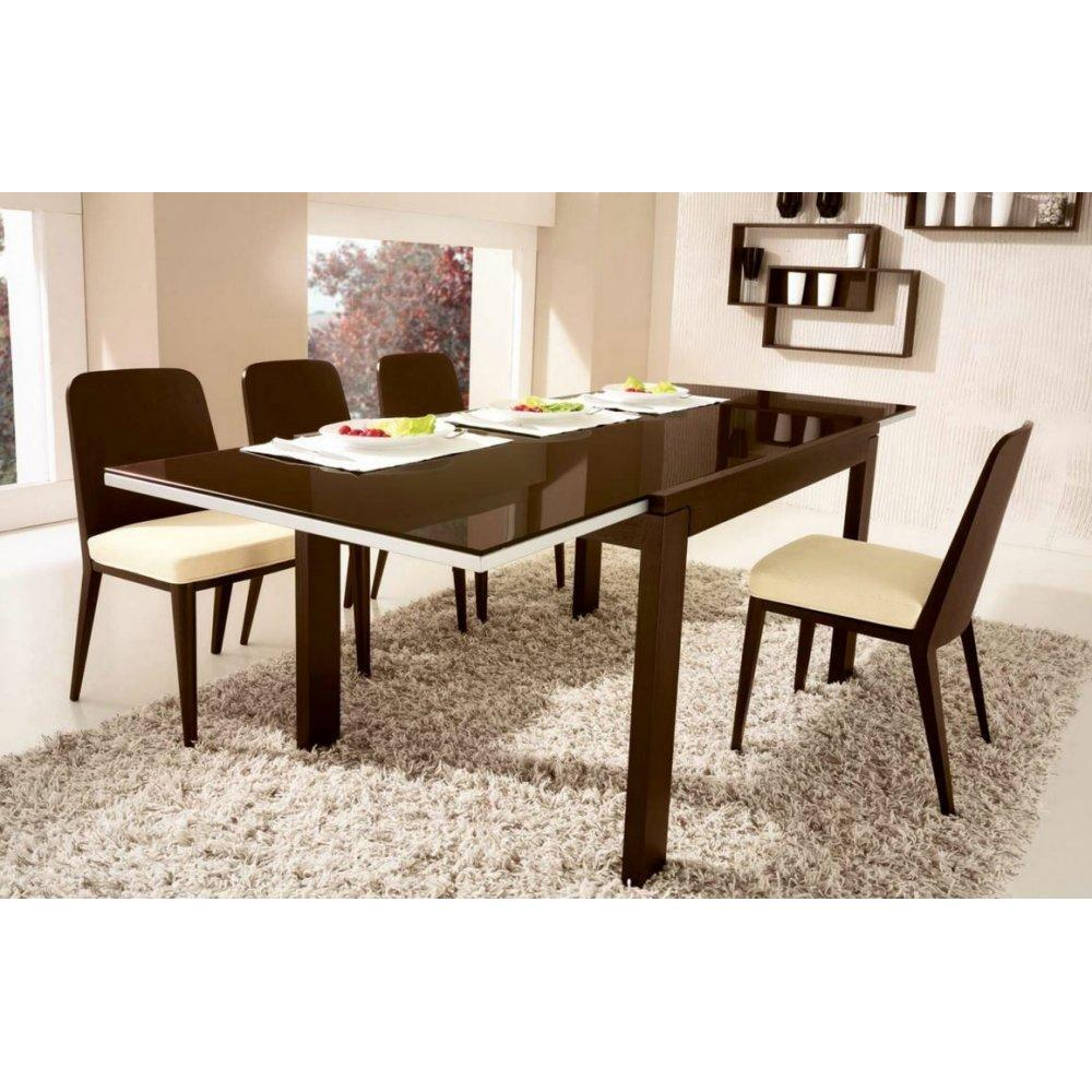 table de repas design au meilleur prix calligaris table repas extensible vero 130x90 en verre. Black Bedroom Furniture Sets. Home Design Ideas