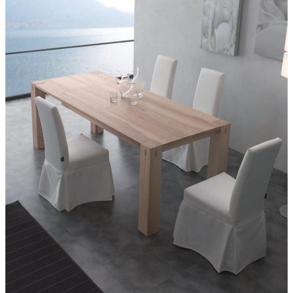 Table extensible et de r ception au meilleur prix table repas extensible fac - Table repas bois massif ...