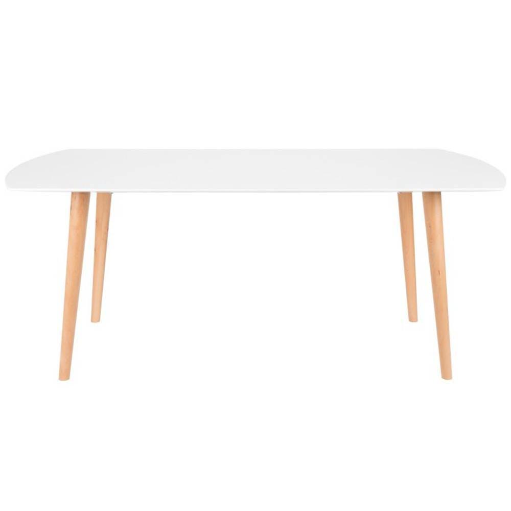 tables design au meilleur prix table repas helsingor 180 x 90 cm blanc brillant style. Black Bedroom Furniture Sets. Home Design Ideas
