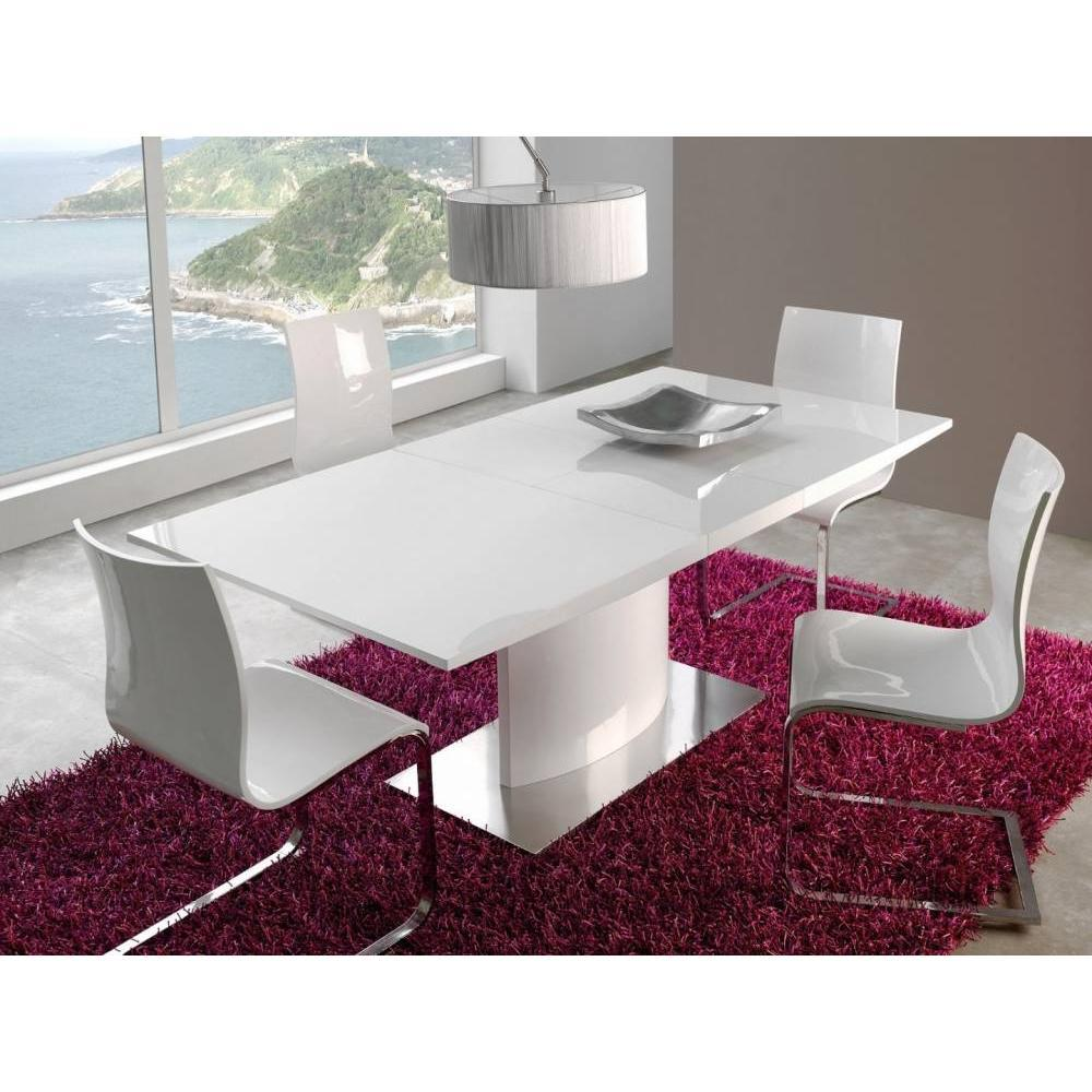 Table extensible SINA design blanche 180x90 cm