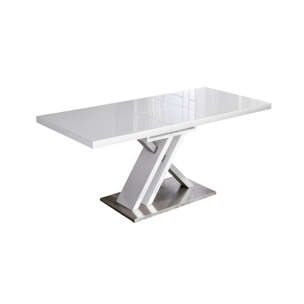 Tables design au meilleur prix table de repas extensible for Table blanche extensible