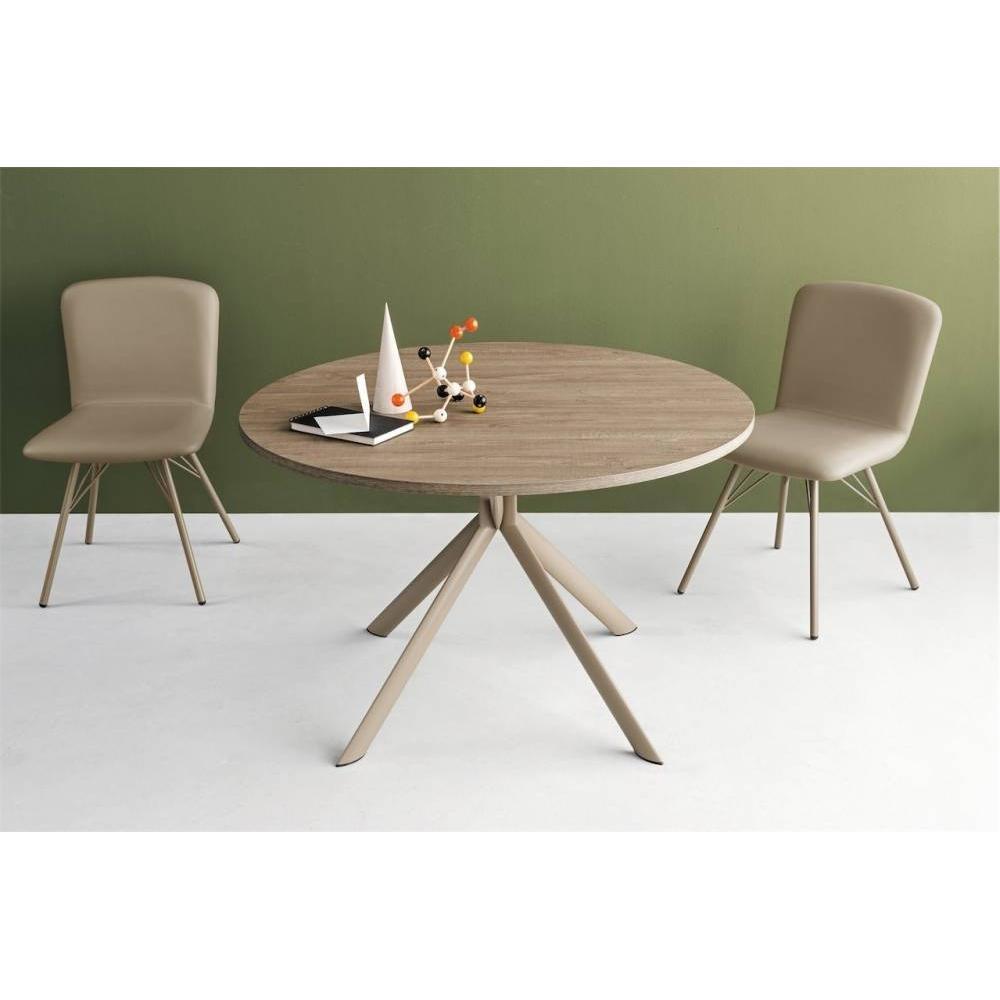 table de repas design au meilleur prix table de repas extensible ronde tulipe quattro 120cm en. Black Bedroom Furniture Sets. Home Design Ideas