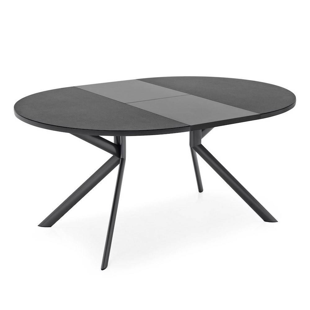 tables design au meilleur prix table de repas extensible ronde tulipe quattro 120cm en verre. Black Bedroom Furniture Sets. Home Design Ideas