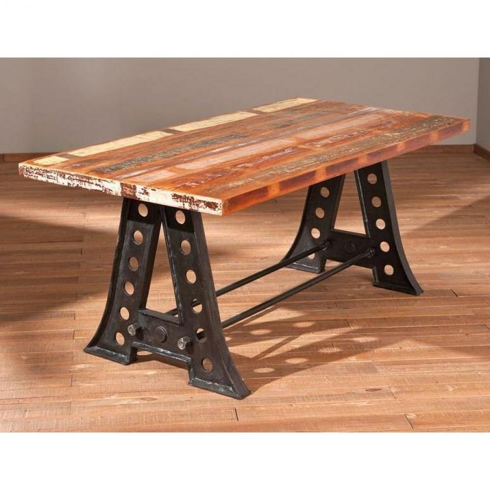 Table de repas design au meilleur prix table repas unique for Table bois acier