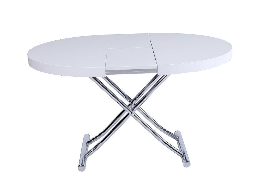 Table relevable design ou classique au meilleur prix for Table ronde 90 cm extensible