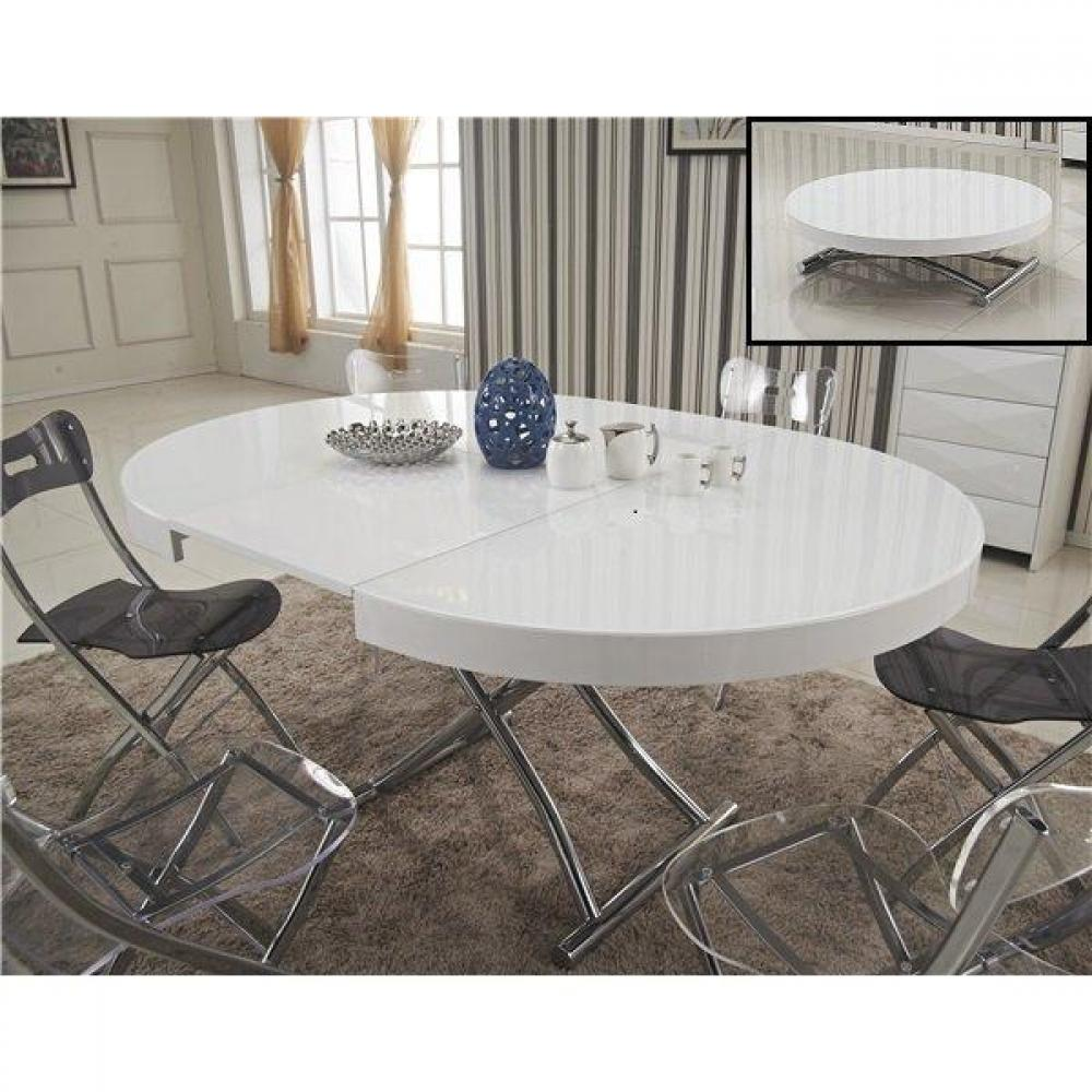 Table relevable design ou classique au meilleur prix table basse ronde relev - Table ronde blanche extensible ...