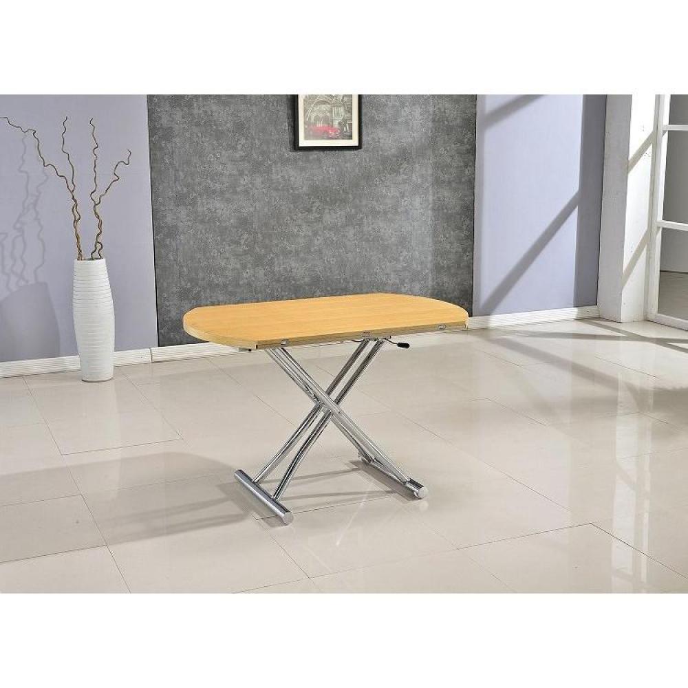 Table relevable design ou classique au meilleur prix for Table ronde chene clair